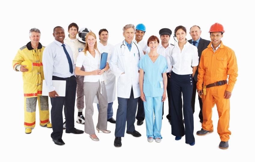 Mennesker med forskjellige yrker, foto
