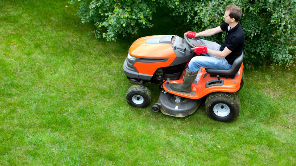vaktemester klipper gress, foto